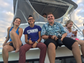 students aboard Seeking Adventure